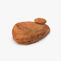 3d sandstone stone sand model