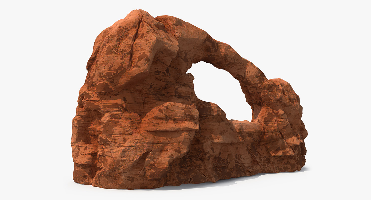 3d sandstone arch model