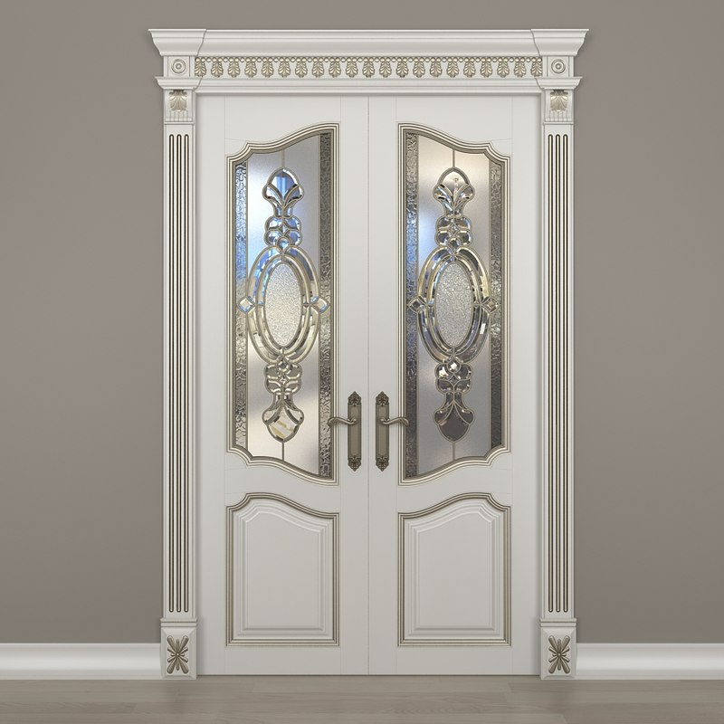 3d glass doors model