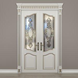 3d glass doors model