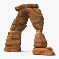 3d model desert arch