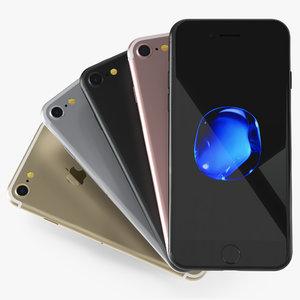 iphone 7 set 3d model