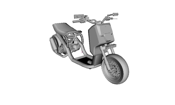 3d model honda ruckus custom