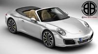 porsche 911 carrera cabriolet 3d 3ds