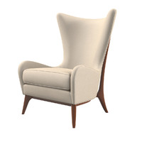 caracole wingback chair 3d model