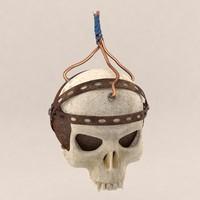 3d skull bomb model