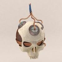 skull bomb 3d model