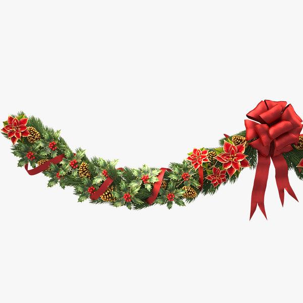 3d model christmas wreath v5