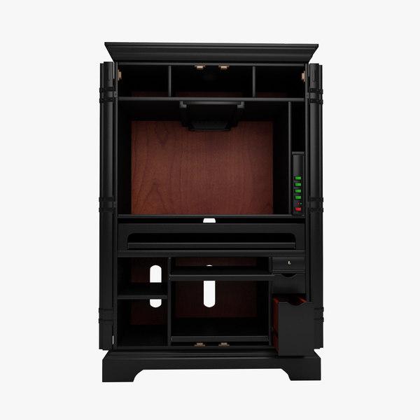 3d model bateman armoire desk