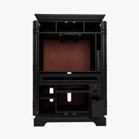 3d model bateman armoire desk