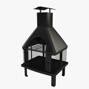 3d model outdoor firehouse