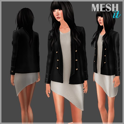 blazer dress set 3ds