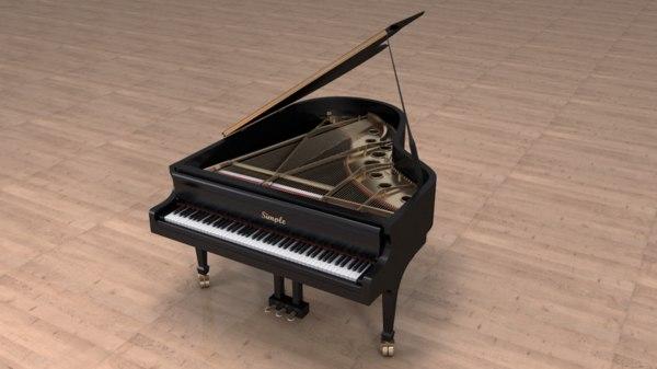 3d model grand piano