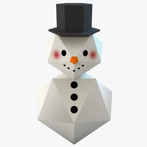3d snowman figurine