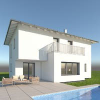 modern single family home max