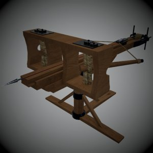 3d model ballista modeled