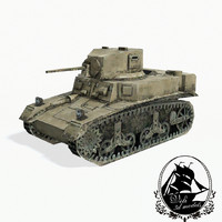 3d m3 stuart light tank model