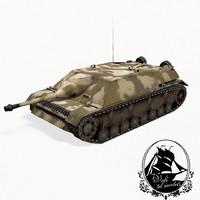 jagdpanzer iv tank 3d model