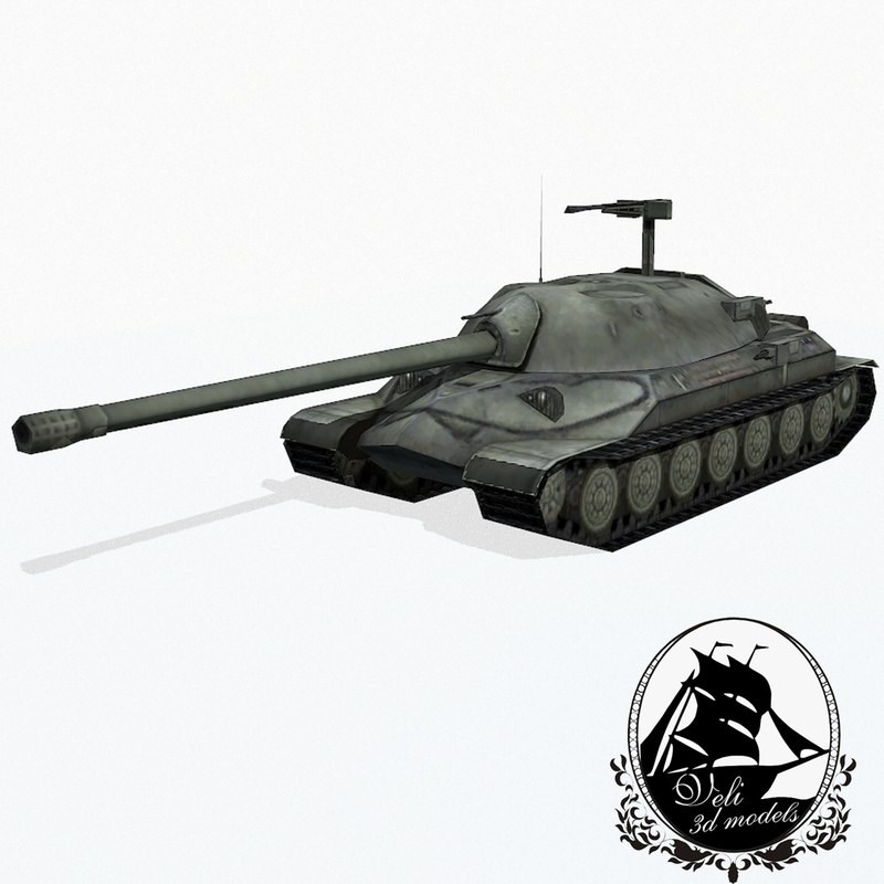 3d model is-7 heavy tank