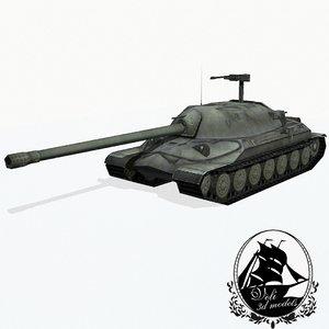 3d model is-7 heavy tank