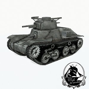 3d model type 4 ke-nu light tank