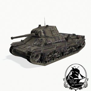 3d world war tank gun