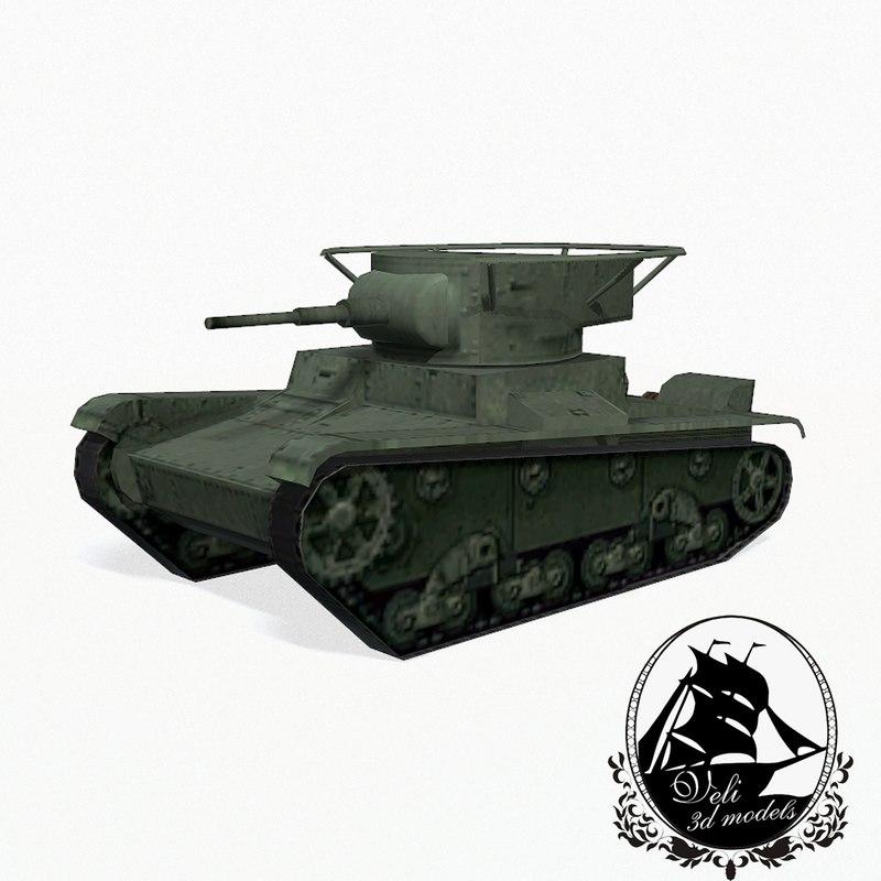 3d t-26 tank