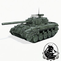 m18 hellcat tank destroyer 3d model