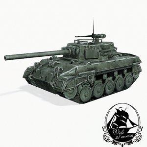 m18 hellcat tank destroyer 3d model