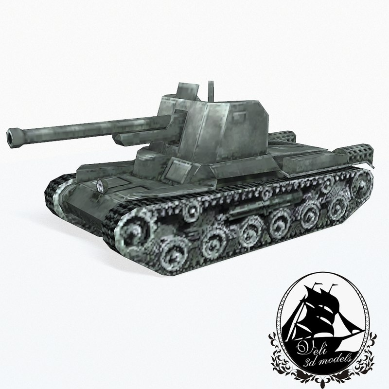 type 1 tank ho-ni 3d model