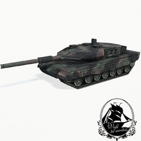 leopard 2 battle tank 3d model