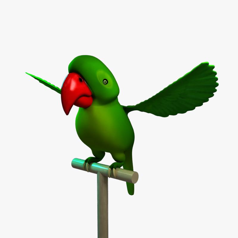 cartoon bird parrot max