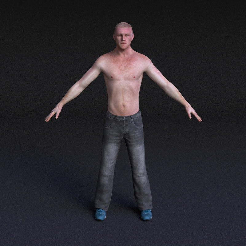 character male - rigged 3d 3ds