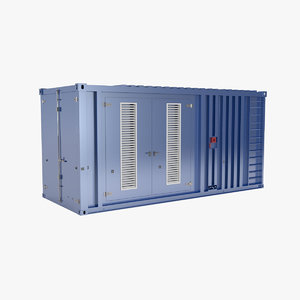 3d model industrial container
