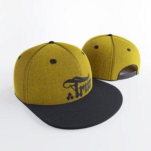 3d model snapback yellow