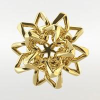 star flower 3d model