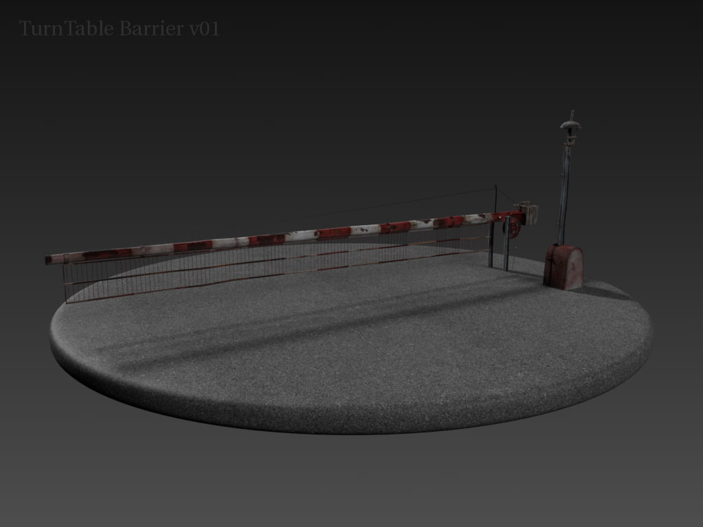 level crossing rigged 3d x