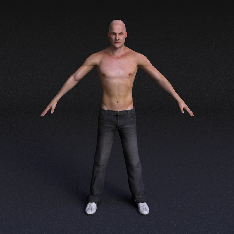 character male - rigged 3d model