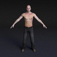 3ds character male - rigged