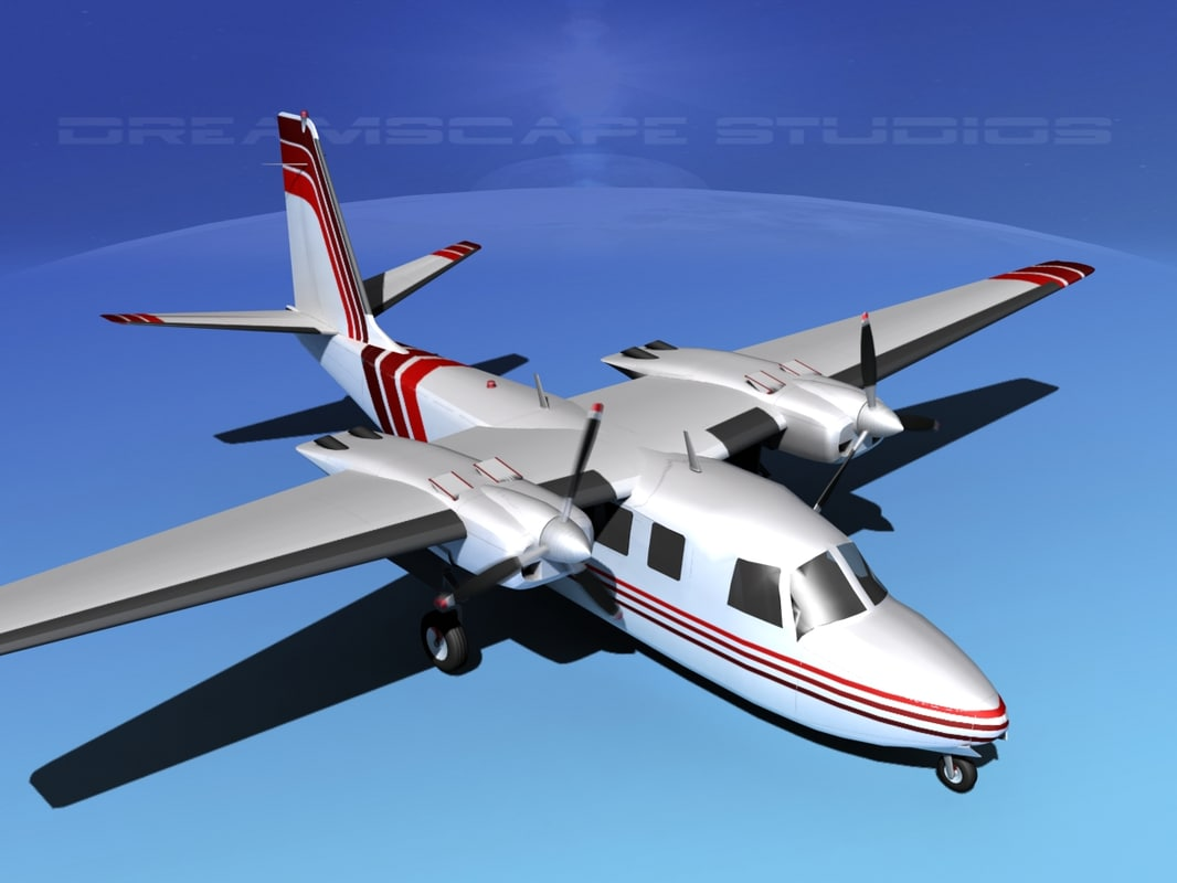 3d propellers aero commander 560 model