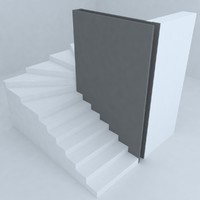 stairs architectural design 3d model