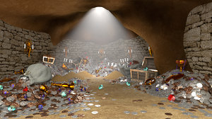 3d model treasure cave