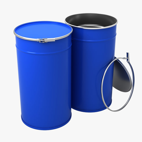 metal barrels 3d max