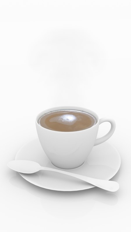 3d coffee cup steam model