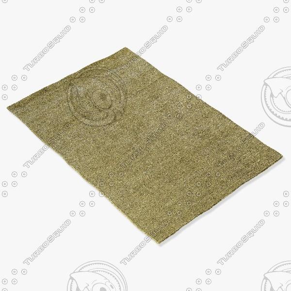 3d model amara rug smart s-gold