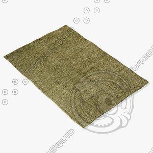 amara rug smart s-green 3d 3ds
