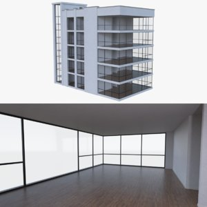 3d model of apartment interior buildings