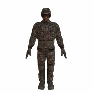 3d special forces soldier man rigged model