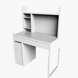 3d micke ikea desk computer table
