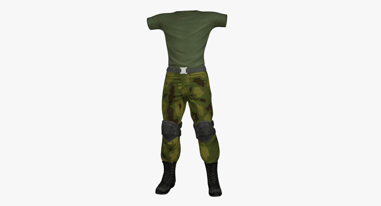 c4d military uniform